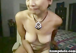 asian older babe toying her vagina