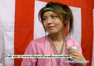 yuzuru japanese virginal asian girl is talking