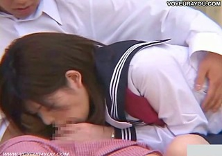 cute japanese girl in voyeur sex outdoor