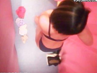 voyeur of japanese lingerie models